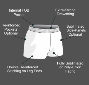 Custom Rugby Shorts Specifications